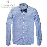 SCOTCH&SODA/スコッチアンドソーダ/シャツ/長袖シャツ/ボウタイ付き/ブルー/メイン
