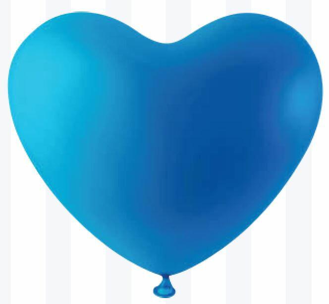 10インチハート風船 Dark Blue(ダークブルー)【20個入】(天然ゴム100%)【結婚式/ウェディング/ブライダル】【バレンタイン/ハート風船】