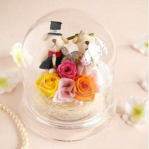 【本州送料無料ウェディングドームドームアレンジメント花プリザーブドフラワープリザ結婚祝い結婚記念日ギフトプレゼント女性】