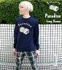 春のセール!!Paradise(パラダイス)ロングスリーブTシャツ-BPGT-sp041lt-G-ロンT長袖サイコロダイス賽子ロゴTシャツポップアメカジオリジナルメンズレディースユニセックス大きめサイズあり【RCP】