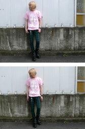 夏休みセール☆Bitch(ビッチ)Tシャツ-TheGhostWriter-tgw006tee-G-RR-グラフィックパンクロックPunkRockフォトTシャツピンクスミ桃色灰色アメカジカジュアル半袖メンズレディースペアユニセックスかわいいバックプリント【RCP】