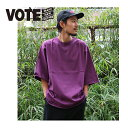 VOTE MAKE NEW CLOTHES ヴォートメイクニュークローズ X- TEE ビッグT シャツ T-SH BIG T TEE ユニセックス カジュアル カットソー スケーター シンプル 無地 切れっぱなしデザイン フェス フジロック サマソニ