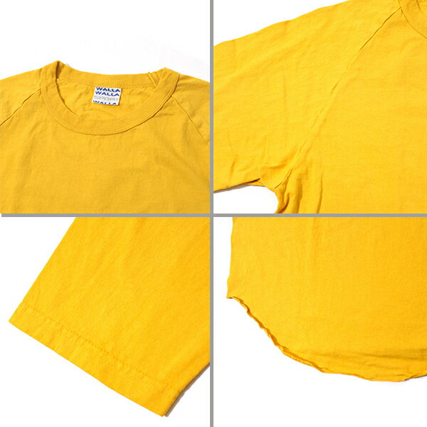 【正規取扱店】WALLA WALLA SPORT ワラワラスポーツ3/4 BASEBALL TEE SOLID  3/4 ベースボール Tシャツ ソリッド日本製 ベーシック カットソー クォータースリーブ T-SH 無地 シンプル ラグラン インナー 透けない コットン
