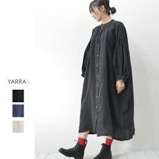 YARRA(ヤラ)ボリュームスリーブ前あきワンピース【YR-201-071】