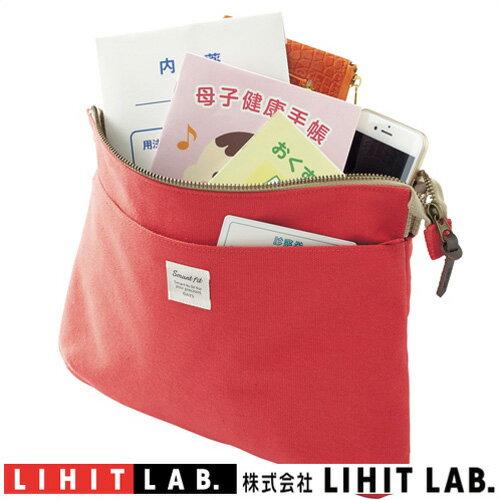 サコッシュポーチ LA7706-3 レッドリヒトラブSMART FIT DAYSポーチ サコッシュパスポート、航空チケット、マップなどの収納に。おくすり手帳、母子手帳、診察券などの収納に。ショルダーベルト(別売)を付けて肩掛けバッグに。レディース画像