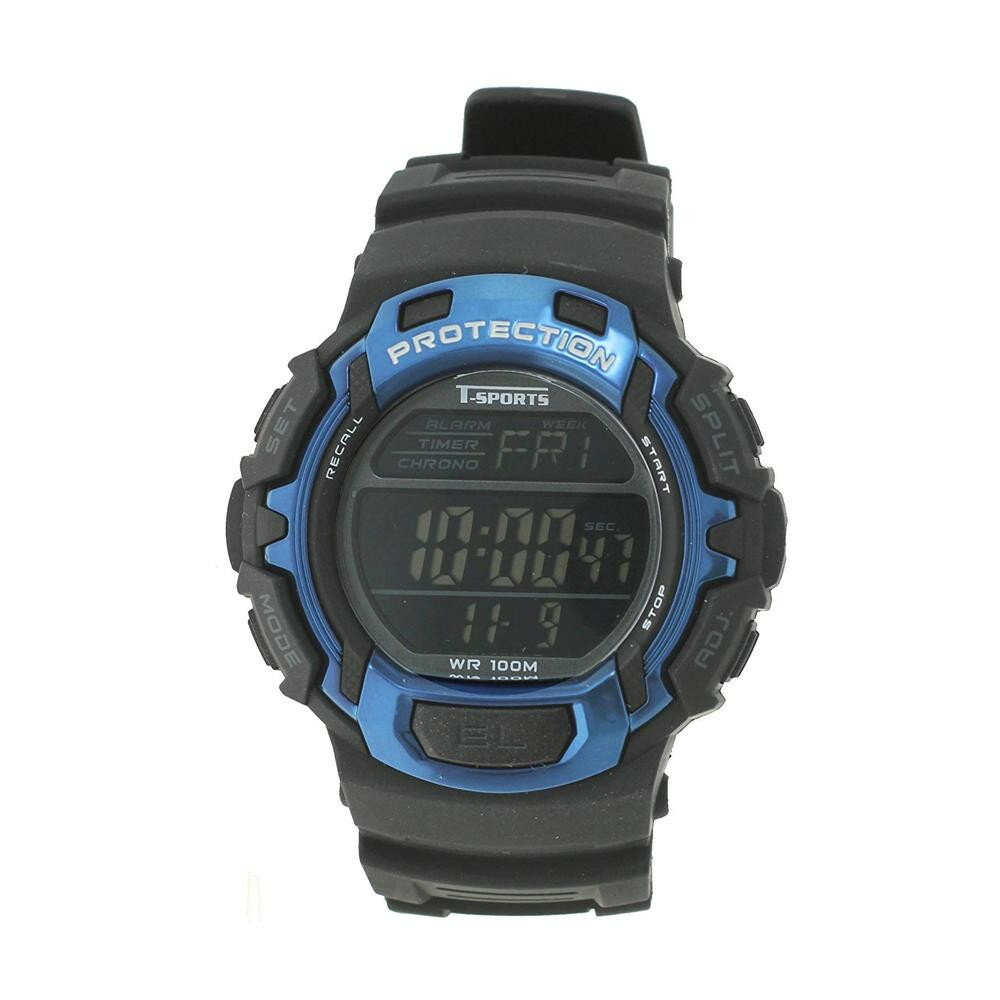 T-sports デジタル 腕時計 TS-D018-BL 代引き不可/同梱不可