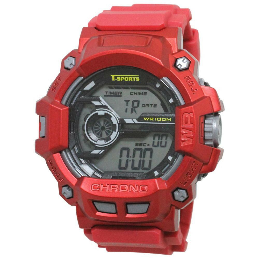 T-sports デジタル 腕時計 TS-D043-RD 代引き不可/同梱不可