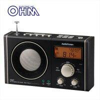 OHM 07-7941 書斎ラジオ ワイド 黒・金 RAD-T941N 代引き不可/同梱不可