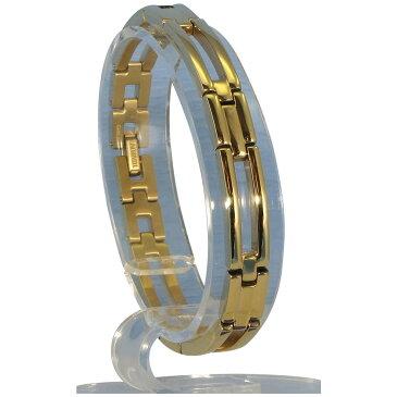 MARE(マーレ) ゲルマニウム4個付ブレスレット GOLD/IP ミラー 110G L (19.5cm) H9246-08L メーカ直送品  代引き不可/同梱不可