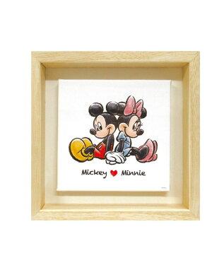ディズニー スモールキャンバス額装 ミッキー&ミニー IAS91156 代引き不可/同梱不可