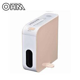 OHM 卓上式 スリム マイクロカット シュレッダー オレンジ SHR-RM602T-PO メーカ直送品  代引き不可/同梱不可