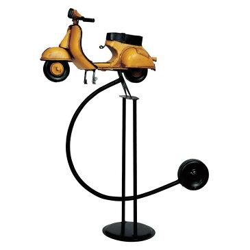 アンティークオブジェ ブリキのおもちゃ(balance scooter) 27309 メーカ直送品  代引き不可/同梱不可