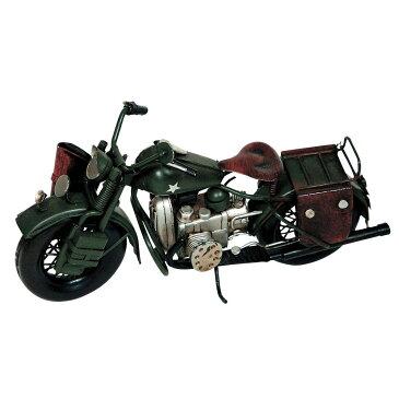 アンティークオブジェ ブリキのおもちゃ(motorcycle combat) 27436 代引き不可/同梱不可