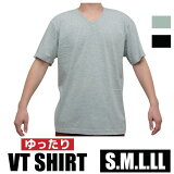 インナー用V首TシャツゆったりサイズS.M.L.LL無地白/黒/グレー【中国製】1枚ならメール便選択可