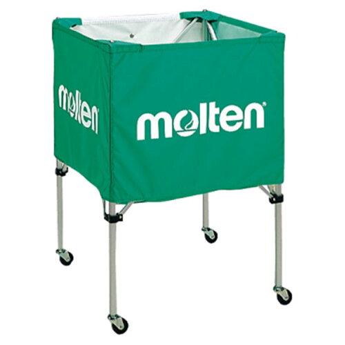 モルテン(Molten) 折りたたみ式ボールカゴ(中・背低) 緑 (mt-bk20hlg-)