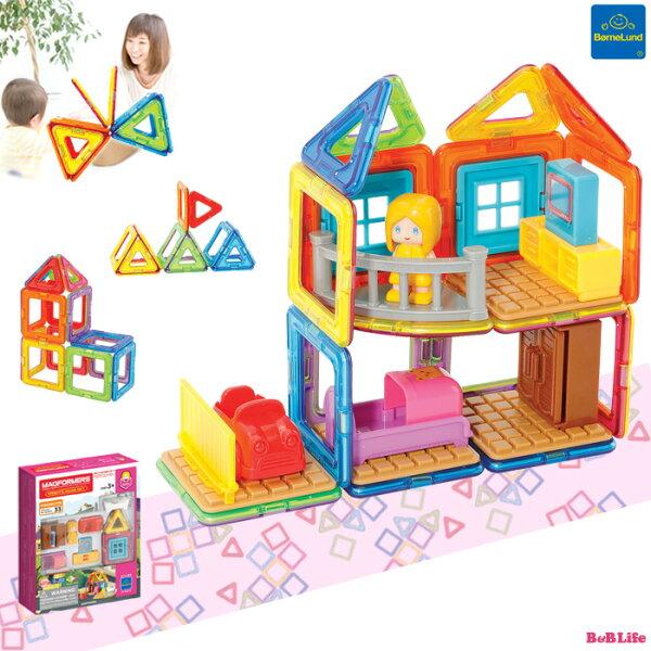 ラッピング ボーネルンドマグフォーマーファンシールーム33ピースMF705009 知育パズル3歳4歳5歳児知育玩具おもちゃ誕生