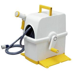 ホースリール30mフルカバーホースリールHRF-30AGFSホワイト/ブルー・ホワイト/イエロー・ホワイト/グリーンアイリスオーヤマ【散水庭台風掃除清掃】【送料無料】