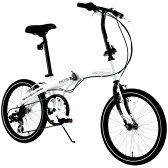 WACHSEN (ヴァクセン) 20インチ アルミ 折りたたみ自転車 6段変速付 WEHβ(ヴァイス) BA-101 【HW】【TD】【代引不可】【送料無料】