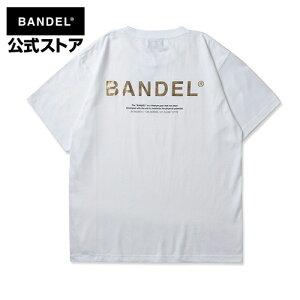GHOST Short Sleeve T Tシャツ 半袖 ホワイト×ゴールド(White×Gold 白×金) Tシャツ ロゴ T011 BANDEL バンデル メンズ レディース 半袖tシャツ メンズティーシャツ 白tシャツ ロゴtシャツ ロゴティーシャツ プリントtシャツ