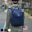 送料無料 [BANDWAGON -MADE IN USA- THE CANVAS BOOK BAG] リュック リュックサック バックパック デイパック デイバッグ ビジネスリュック ブック バッグ メンズ レディース A4 大容量 通勤 通学 キャンバス シンプル 高校生 大学生 ブラック アメリカ製 バンドワゴン