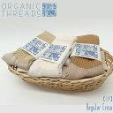 メール便 送料無料 オーガニック ソックス [ORGANIC THREADS REGULAR CREW 1P] くつ下 靴下 レディース メンズ 1P 1パック organic コットン cotton オーガニックコットン organiccotton ナチュラル 生成り アメリカ製 MadeInUsa [オーガニックスレッズ]