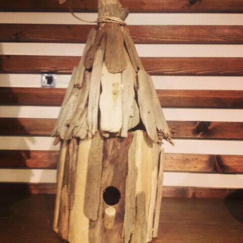 HANDCRAFT Driftwood Bird House-ハンドクラフト ドリフトウッドバードハウス 流木