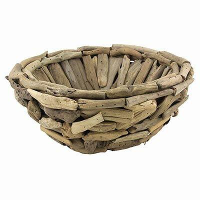 HANDCRAFT Driftwood Round Basket-ハンドクラフト ドリフトウッド ラウンドバスケット 流木