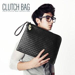 メッシュ レザー クラッチバッグ 2way メンズ ブラック 編込 ショルダーバッグ セカンドバッグ バッグインバッグ 小さめ 黒 結婚式 人気 斜めがけ かばん 鞄 バッグ ccb-0006