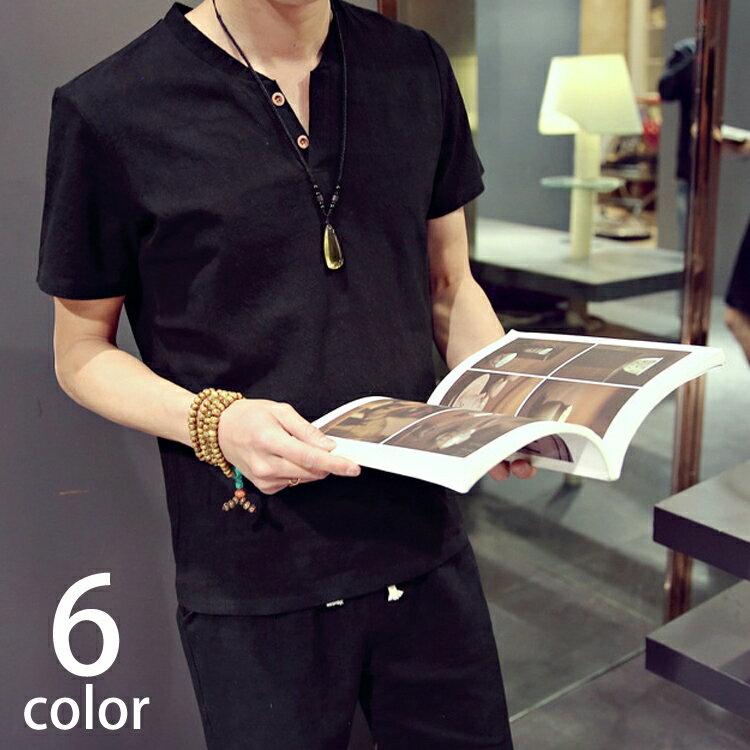 6color サマー コットン 上下 セットアップ ヘンリーネック メンズ レディース 半袖 Tシャツ 短パン 上下 涼しい 無地 シンプル 部屋着 薄手 吸水性 トップス カットソー かっこいい 楽 ルームウェア 夏 花火 綿 100% 黒 白 サマー ファッション csu-0010