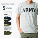 5color ARMY Tシャツ アーミー 半袖 クルーネック メンズ レディース 無地 Tシャツ Army ロゴ カレッジロゴ ミリタリー アメカジ トップス カットソー ティーシャツ ロゴT 黒 ブラック 白 ホワイト 緑 グリーン 紺 Tシャツ tat-0006