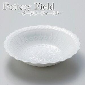 ポーリッシュ柄の日本製美濃焼き。シンプルモダンな白いボウル。【送料無料】ポタリーフィール...