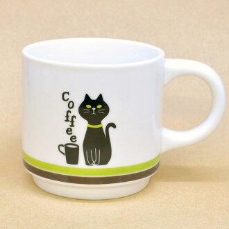 Greenline 黑貓咖啡咖啡杯子咖啡杯子杯貓貓設計 nekogoods 貓杯