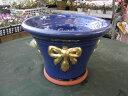 lavenderPot 青塗り鉢wichford potttery lavenderPot 塗り