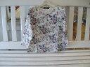 ビクトリアンポジー柄オリジナルプリントTシャツ(7部袖丈)