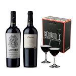 赤ワイン2本オヴァチュアレッドワイン2脚セットアルゼンチンワイン