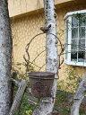 ●中●【バラ雑貨】 ラスティ・ハンギングポット (ガーデン雑貨)