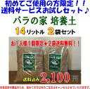 ●○●【2袋】「バラの家 培養土」(バラの土)14リットル×2袋なんと送料無料です!!【沖縄と離島は送料無料対象外です。】配送 佐…