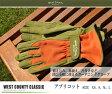 ウエストカウンティー クラシック 【アプリコット】 (革手袋、皮手袋、ガーデングローブ、レディース メンズ、園芸手袋) ※土と同梱可※ 応援フェア★期間限定