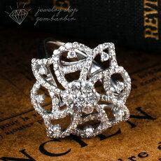 【新作】K18ダイヤモンド幅広透かしミルグレインアンティーク指輪リングピンクゴールドジュエリーアクセサリーレディースジュエリープレゼントファッション30代40代50代60代送料無料