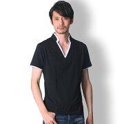 BUZZWEARレイヤード半袖tシャツメンズ秋春夏用黒M-XL