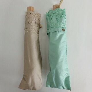 晴雨兼用傘レディース日傘雨傘折たたみ傘綿サテンボーラー刺繍傘ファッション雑貨女性用コーデ日焼け対策
