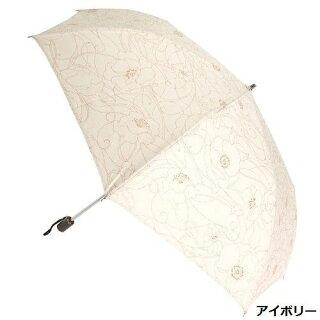 晴雨兼用傘レディース国産日本製日傘雨傘折たたみ傘綿麻生地グリッタープリント傘ファッション雑貨女性用コーデ日焼け対策