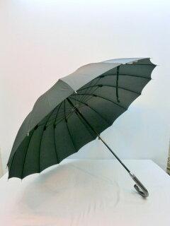 紳士雨傘メンズ雨傘長傘紳士16本骨グラスファイバー骨レザー巻き手元無地手開き雨傘ファッション雑貨小物傘男性用