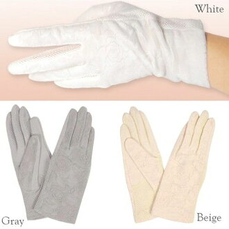 保暖手套婦女防滑玫瑰 & 網短手套手套 UV 保護時尚小玩意冬天贈品 02P03Dec16