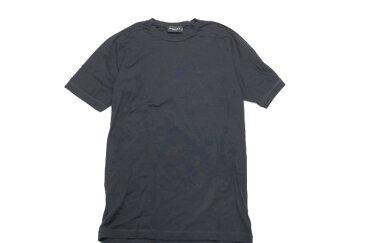 [美品] セリーヌ CELINE Lサイズ ロゴ Tシャツ メンズ ワンポイント マカダム ブラゾン クルーネック 半袖 シンプル ブラック ブランド古着 【中古】