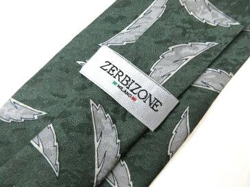 ブランド ネクタイ 【中古】ZERBIZONE ザービゾン 総柄 良品メンズ プレゼント 【,r44788,】