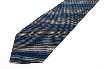 レノマ renoma ストライプ柄 ブルー 青 シルク イタリア製 ブランド ネクタイ 送料無料 【中古】