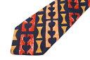 エンリココベリ ENRICO COVERI ストライプ柄 オレンジ シルク イタリア製 ブランド ネクタイ 送料無料 【中古】【美品】