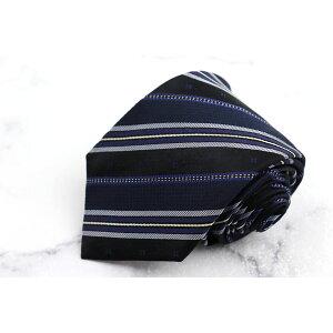 MCM MCM 실크 스트라이프 무늬 네이비 실크 브랜드 넥타이 무료 배송 [중고] [미용]