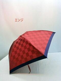 折り畳み傘レディース傘雨傘折畳傘婦人甲州産先染め朱子格子市松柄日本製丸ミニ国産品ファッション雑貨小物折りたたみ傘女性用